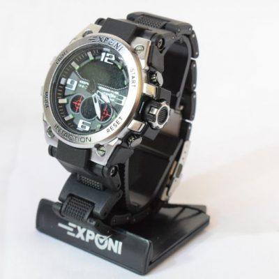 Ρολόι Exponi Μαύρο-Ασημί