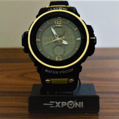 Ρολόι Exponi Μαύρο-Χρυσό