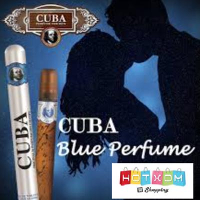 ΑΝΤΡΙΚΟ ΑΡΩΜΑ ΣΕ ΣΠΡΕΪ ΜΕ ΣΧΗΜΑ ΠΟΥΡΟ Cuba Blue Original 35ml ΣΕ ΜΕΤΑΛΛΙΚΗ ΘΗΚΗ