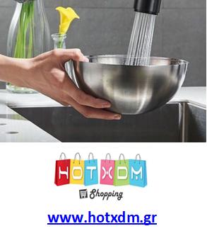 Βρύση κουζίνας διπλής ροής με εύκαμπτη σωλήνα για επέκταση κεφαλής SDS-15052 Inox Mat