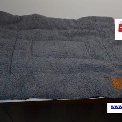 PET BED 60x40x2cm Μπλε Σκούρο-Γκρι