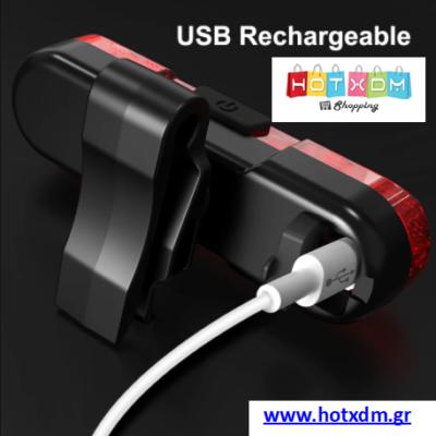ΠΙΣΩ ΦΩΣ ΠΟΔΗΛΑΤΟΥ ΕΠΑΝΑΦΟΡΤΙΖΟΜΕΝΟ ΜΕ USB – Κόκκινο AS1010