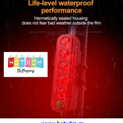 ΠΙΣΩ ΦΩΣ ΠΟΔΗΛΑΤΟΥ ΕΠΑΝΑΦΟΡΤΙΖΟΜΕΝΟ ΜΕ USB – Κόκκινο