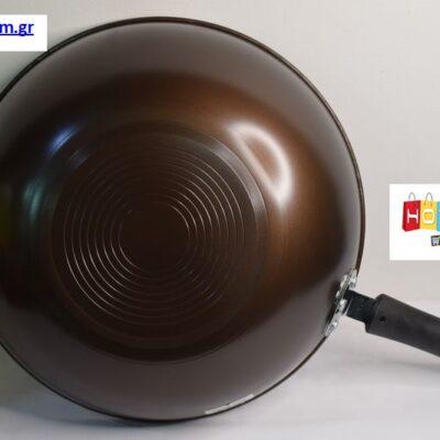 ΑΝΤΙΚΟΛΛΗΤΙΚΟ ΤΗΓΑΝΙ ΒΑΘΥ 35cm – Καφέ Μαύρο