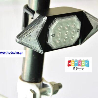 Ασύρματο πίσω φως ποδηλάτου με φλας 40x122mm LED