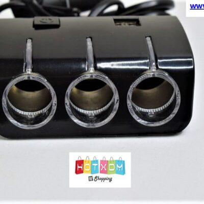 Αντάπτορας αυτοκινήτου με 3 πρίζες και 2 θήρες USB