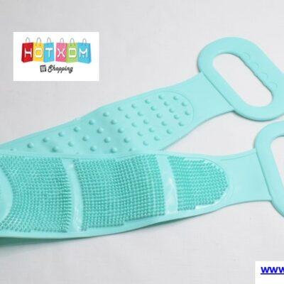 Silicone bath cleaning towel Τρίφτης πλάτης για απολέπιση – Τυρκουάζ