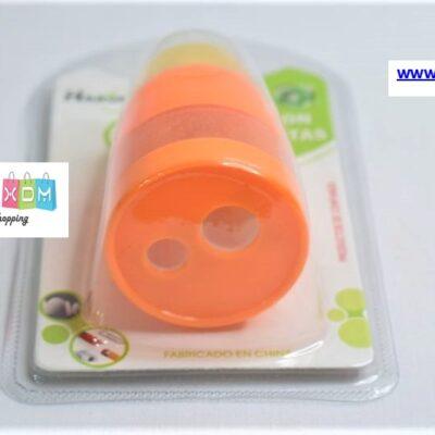 Ξύστρα και γόμα 2σε1 – Πορτοκαλί