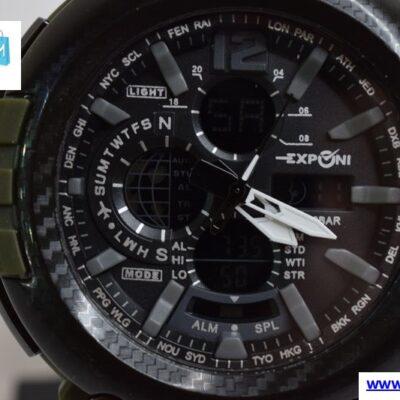 Ρολόι Exponi Μαύρο-Χακί