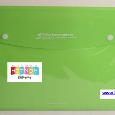 Πλαστική θήκη με 6 θέσεις εγγράφων – Πράσινη
