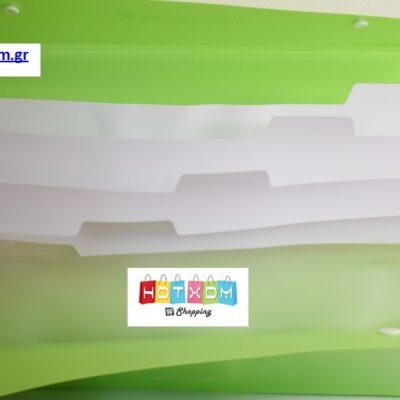 Πλαστική θήκη με 6 θέσεις εγγράφων – Μπλε