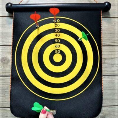 Magnet Dartboard Μαγνητικός στόχος με βελάκια διπλής όψεως