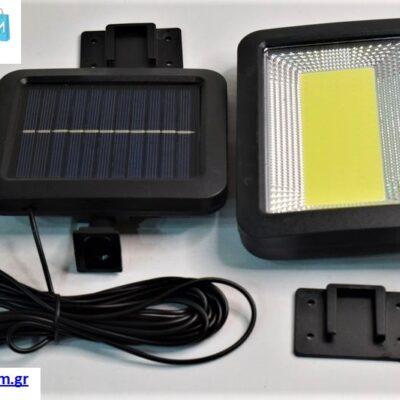 Ηλιακός Προβολέας LED 80W με ξεχωριστό πάνελ