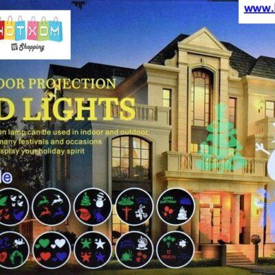 Προτζέκτορας LED για όλες τις εποχές και γιορτές με 12 σχέδια