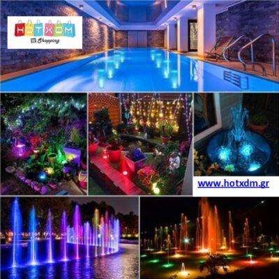 Διακοσμητικό φως 13 LED αδιάβροχο με εναλλασσόμενα διπλά χρώματα Rainbow Shower